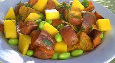Roasted Sweet Potato, Mango & Edamame Salad