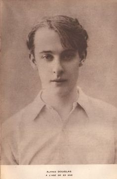 """Lord Alfred """"Bosie"""" Douglas:  a cousin of the Wyndhams through his mother, he introduced Oscar Wilde to the group"""