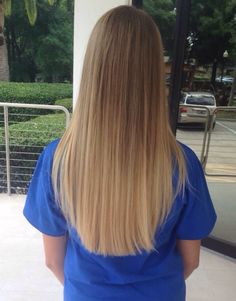 dirty blonde ombré with long hair