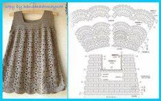 Fabulous Crochet a Little Black Crochet Dress Ideas. Georgeous Crochet a Little Black Crochet Dress Ideas. T-shirt Au Crochet, Pull Crochet, Crochet Tunic, Crochet Girls, Crochet Baby Clothes, Crochet Diagram, Crochet Woman, Crochet For Kids, Crochet Crafts