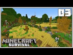 In today's episode of The Minecraft Survival Let's Play we're adding crop fields to our base that was voted by you all in the last episode! Minecraft Building Guide, Minecraft 1, Minecraft Designs, Last Episode, Today Episode, Minecraft Japanese House, Crop Field, Minecraft Survival, Lets Play