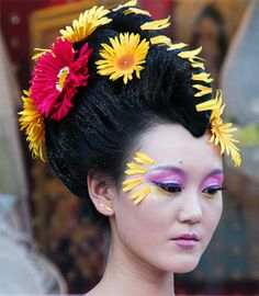 China traditional hairstyles with flowers.China bangs hairstyles. Chinese hairstyles for long hair. Traditional chinese wedding hairstyles.
