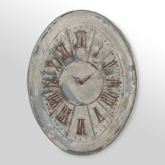 Oval Roman Numeral Wall Clock - Love the rustic charm