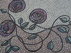 Angie Weston Mosaic Art Nouveau Inspired Table Top