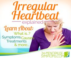 Irregular heartbeat is a common symptom many women experience during menopause.The heart skipping a beat can be a scary experience, but luckily, it's usually just part of menopause and not the sign of an underlying problem. Menopause Diet, Menopause Symptoms, Normal Heart Rate, Rapid Heart Beat, Irregular Heartbeat, Heart Palpitations, Psychology Disorders, Autonomic Nervous System, Cardiovascular Health