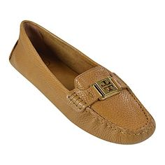 2f4811d89368 TORY BURCH Tory Burch Kendrick Royal Tan Tumbled Leather Driver Loafers.   toryburch  shoes  loafers   slip-ons