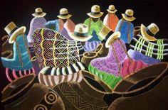 tapiz cholitas tapiz cholitas tela pana,pintura de tela,pirograbador pirograbado,pintado a mano