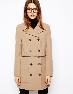 ASOS Coat with Zip Detail
