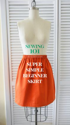 Beginner Skirt Sewing Tutorial - No Pattern Needed!