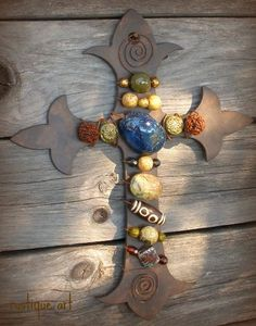 Wired/beaded cross