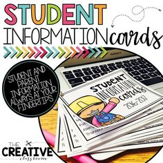 Organized and convenient student information cards