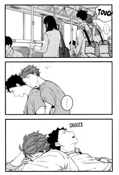 Oikawa x Iwaizumi cuddly iwaoi is my weakness ( ´ ♡ ` )/