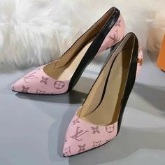 Louis Vuitton LV Women Fashion Pointed Toe High Heels Shoes from IdsBook. Louis Vuitton High Heels, Christian Louis Vuitton, Shoes Heels Pumps, Stiletto Heels, Flats, Sandals, Black Peep Toe Pumps, Christian Louboutin Outlet, Business Shoes