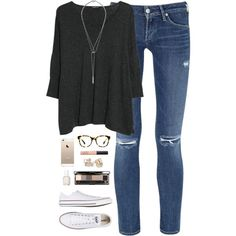 """""""super relaxed"""" by classically-preppy on Polyvore"""