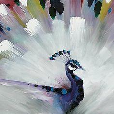 Peacock Wall Art Canvas Print Ready To Hang 75*100cm