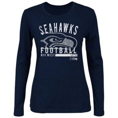 Seattle Seahawks Control the Clock T-Shirt - College Navy