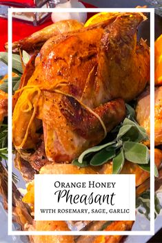 """Inspired by Anna of Cleves' solo """"Get Down"""" in SIX the Musical, this orange honey pheasant is holiday-worthy! Venison Recipes, Meat Recipes, Dinner Recipes, Dinner Ideas, How To Cook Pheasant, Cooking Pheasant, Honey Recipes, Orange Recipes, Meals"""