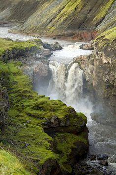 Glacier Waterfall in Markarfljót north of Eyjafjallajökull, Tumblr