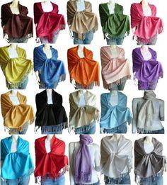 Scarf_tradinginc Large Soft 100% Pashmina Scarf Shawl Wrap -Various Colors $2.25 - $8.99