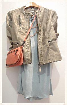 Sandwich faux leather jacket, £119 Part Two Long sleeve top, £44.95 Sandwich Bag, £39 Exoal necklace, £79