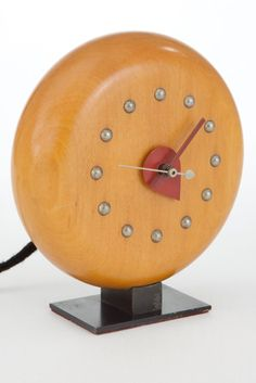 Great Deco Gilbert Rohde Clock for Herman Miller Pre-Production Model