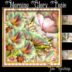 Morning Glory Posie Card Front Kit on Craftsuprint - View Now!