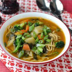 Arunachal Pradesh -- Thukpa (Vegetarian Noodle Soup) Recipe | cookshideout
