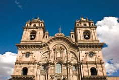Beautiful old Spanish churches in Peru.