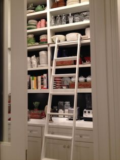 Pantry ladder for easy access