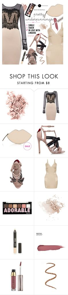 """""""Spring-Summer 17 (Plus Size Chic)"""" by foolsuk ❤ liked on Polyvore featuring Chantecaille, KG Kurt Geiger, Charlotte Russe and Topshop"""
