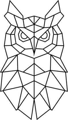 owl print minimal line art , cubism,Owl Print, Line Art Drawing inspired by Picasso Animal Sketch. Art Print by GraphicWorldGift Owl Tattoo Drawings, Art Drawings, Geometric Drawing, Geometric Shapes, Cubism Art, String Art Patterns, Owl Print, Animal Sketches, Barn Quilts