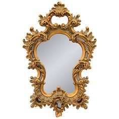Antique Gold Finish Baroque Scroll Accent Mirror #MBWUniqueImports