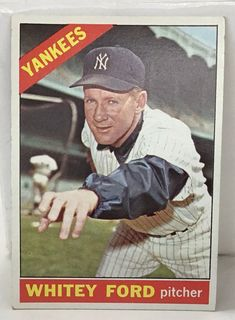 1966 Topps Whitey Ford New York Yankees Baseball Card for sale online Best Baseball Player, Better Baseball, Baseball Movies, Baseball Stuff, Baseball Card Values, Baseball Cards For Sale, Go Yankees, New York Yankees Baseball, Football