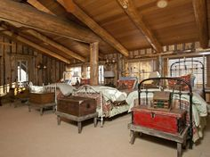"""The """"Bunkhouse"""" .......... great place for antique iron beds."""