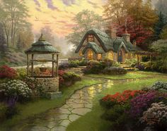 Make a Wish Thomas Kinkade
