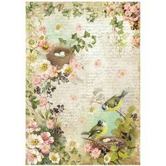 Rice paper for Decoupage. HD quality, stunning shabby chic design. Available on www.cottagechicinteriors.ie