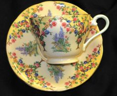 AYNSLEY-BLOSSOM-TREE-BIRD-PINK-MAUVE-PEACH-TEA-CUP-AND-SAUCER