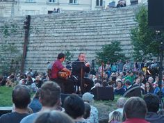 Nantes concert in the castle garden summer 2017