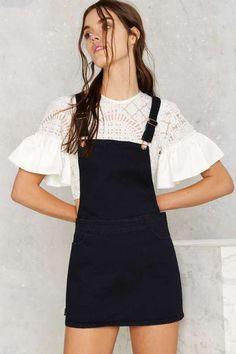 Overall of It Denim Dress - Dresses