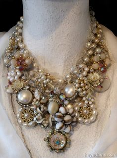 Made from vintage jewellery and buttons...gorgeous!