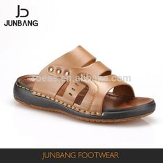 Source Best seller trendy style lazy outdoor brown PU slippers for men on m.alibaba.com