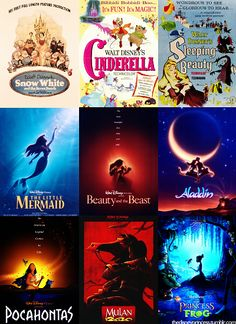 Disney Movie Posters. I have a shirt from H & M with this Snow White poster printed on it.