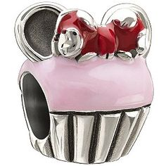 Order this Chamilia Disney Minnie Cupcake Sterling Silver Charm online. Buy now at H. Quality at affordable prices. Disney Pandora Bracelet, Pandora Charms Disney, Pandora Beads, Disney Jewelry, Pandora Bracelets, Pandora Jewelry, Charm Bracelets, Minnie Cupcakes, Jewelry Chest
