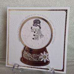 Sue Wilson snowglobe, Snowman die set, Snowglobe stamp set.