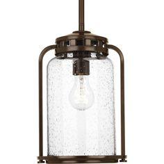 Progress Lighting Botta 12-in Antique Bronze Outdoor Pendant Light