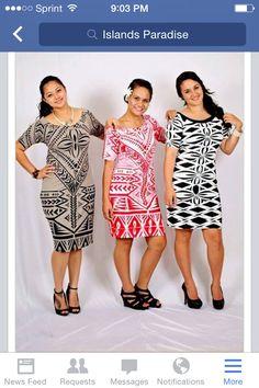 ❤️ modern island wear Samoan Designs, Polynesian Designs, Polynesian Tribal, Island Wear, Island Outfit, New Dress Pattern, Dress Patterns, Sewing Patterns, Samoan Dress