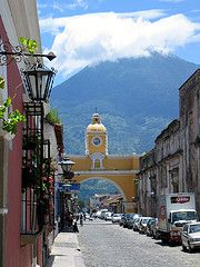 Antigua, Guatemala that up there is not a mountain it's a volcano