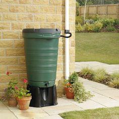 Rainsaver Water Butt Kit with Rain Diverter Kit, 190 litre, Green