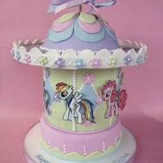 A My Little Pony Carousel! Cake!