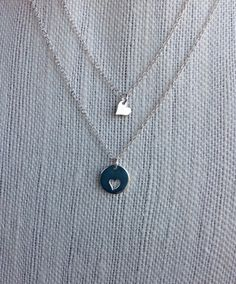 Mother Daughter Necklace Set- sterling silver or gold by rosewaterdesigns, $48.00 #etsy